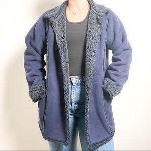 L.L Bean Teddy Sherpa Blue Jacket Coat
